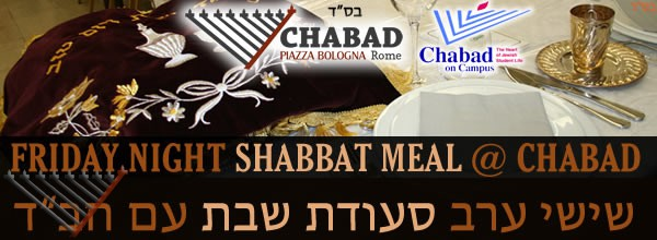 Shabbat Meal with Chabad - 1 Adar- Parshat Teruma