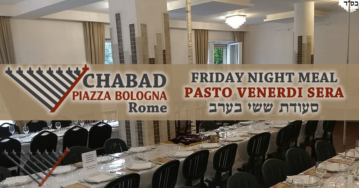 Friday Night Meal with Chabad - 2 Kislev- Parshat Toledot