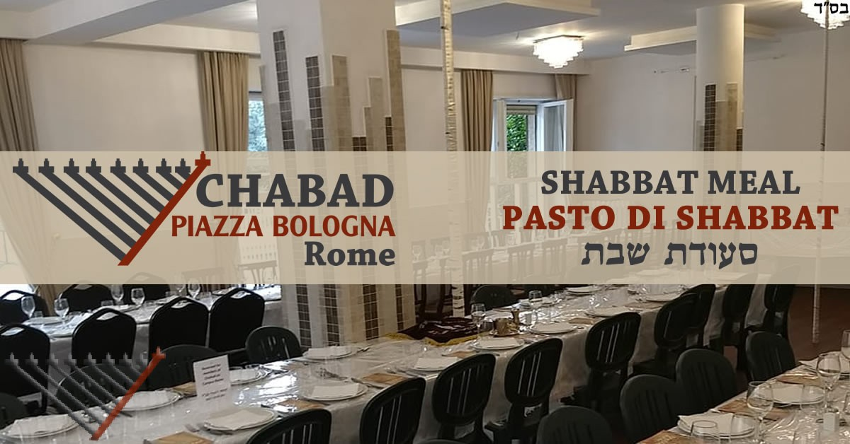 Shabbat Day Meal with Chabad - 2 Kislev - Parshat Toledot